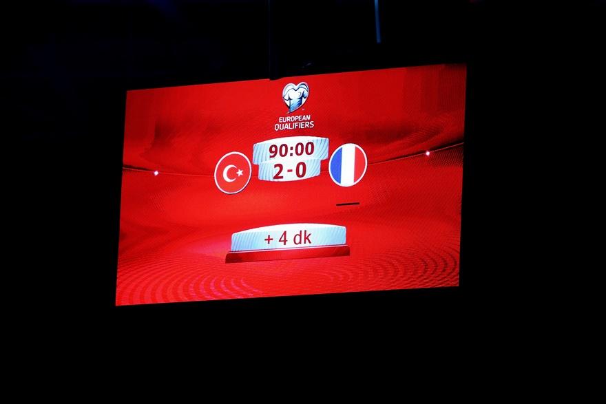 Fransa maçından kareler 1