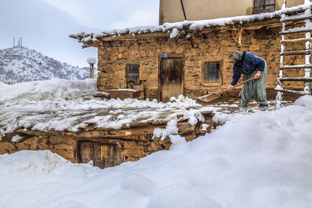 Hadim'de kar yağışı etkili oldu 1