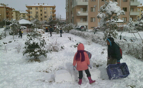 Konyadan kar manzaraları 8
