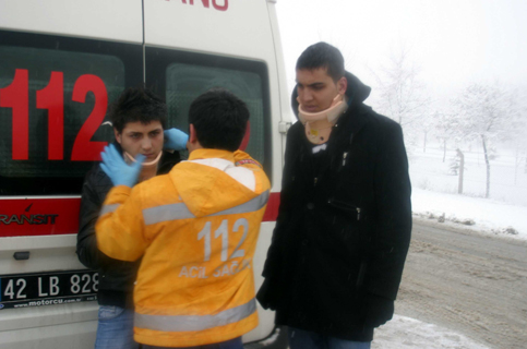 Konyada Otobüs devrildi 1 ölü 23 yaralı 9