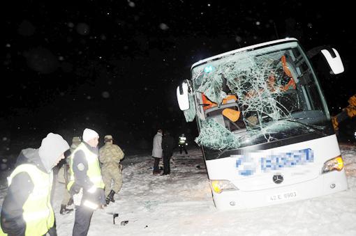 Otobüs devrildi, bir çocuk hayatını kaybetti 2