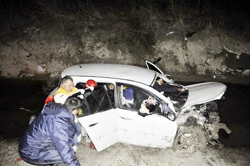 Seydişehirde trafik kazası: 1 ölü 5 Yaralı 1