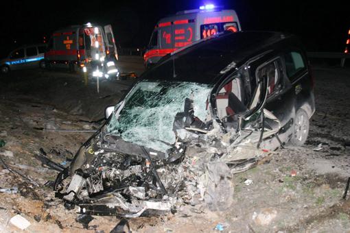 Trafik kazası 2 ölü 6