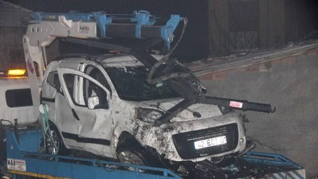 Konya'da feci kaza:4 ölü
