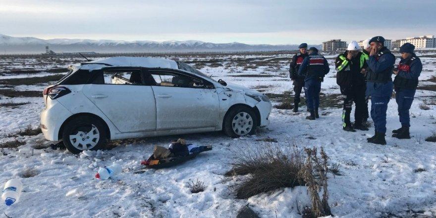 Konya'da otomobil takla attı: 1 yaralı