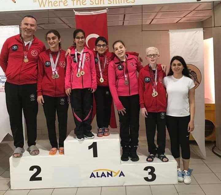 Yüzmede Konya'ya  12 madalya