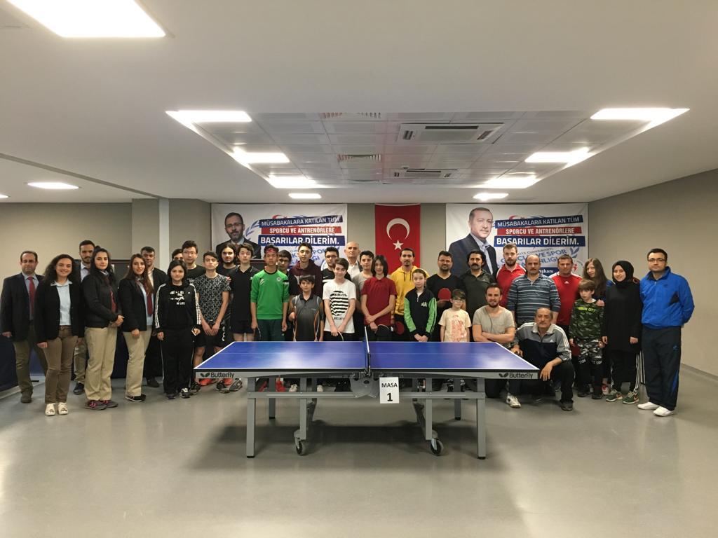 Masa Tenisinde Çanakkale Şehitlerini Anma Turnuvası Yapıldı