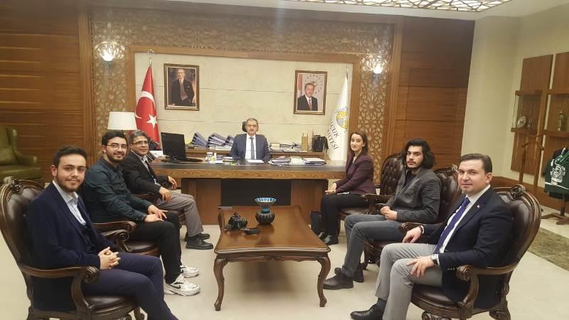 UİGAD Konya'dan  Rektör Şahin'e ziyaret