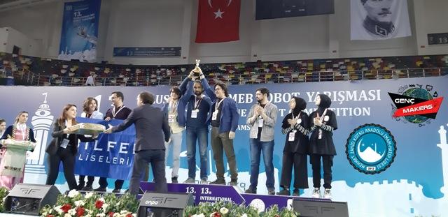 Robot Yarışmasında  İmam Hatip Lisesi Başarısı
