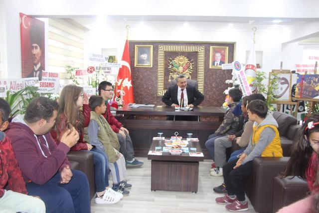 Tutal'a rehabilitasyon  öğrencilerinden ziyaret
