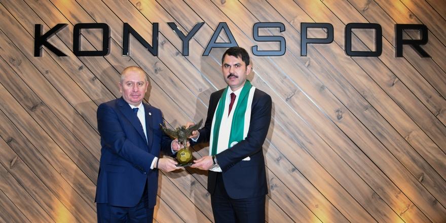 Bakan Kurum'dan Konyaspor'a destek