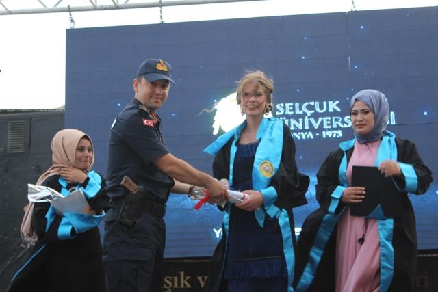 Yunak MYO'da  mezuniyet töreni