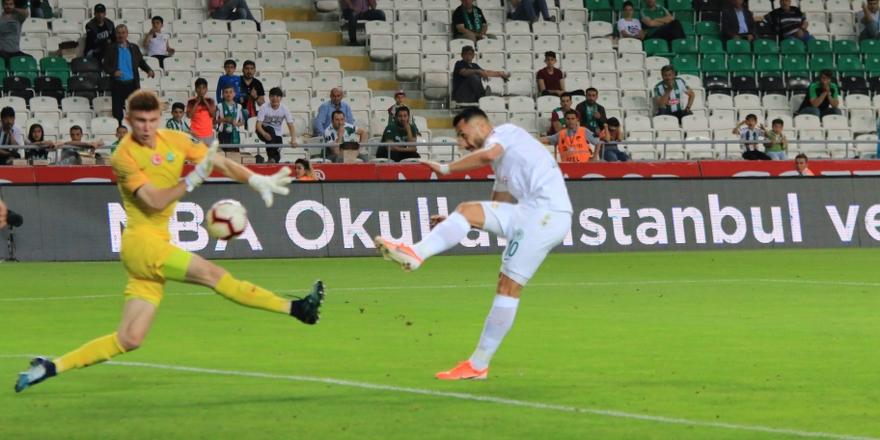 Konyaspor sezonun yarısında berabere kaldı