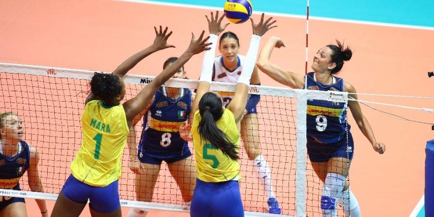 2019 FIVB Voleybol Milletler Ligi: Brezilya: 3 - İtalya: 0