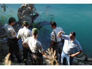 Manavgat Irmağında Kimliği Belirsiz Erkek Cesedi Bulundu