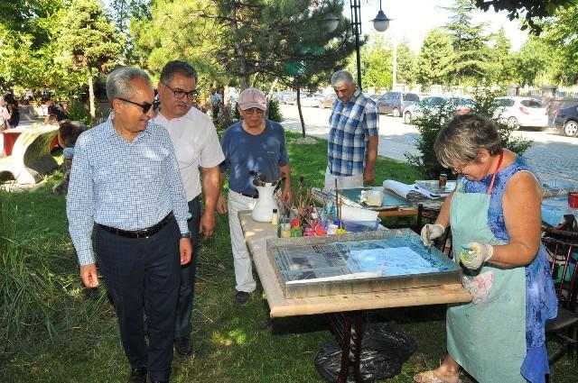 Akşehir Gülmece Parkı sanat atölyesine dönüştü