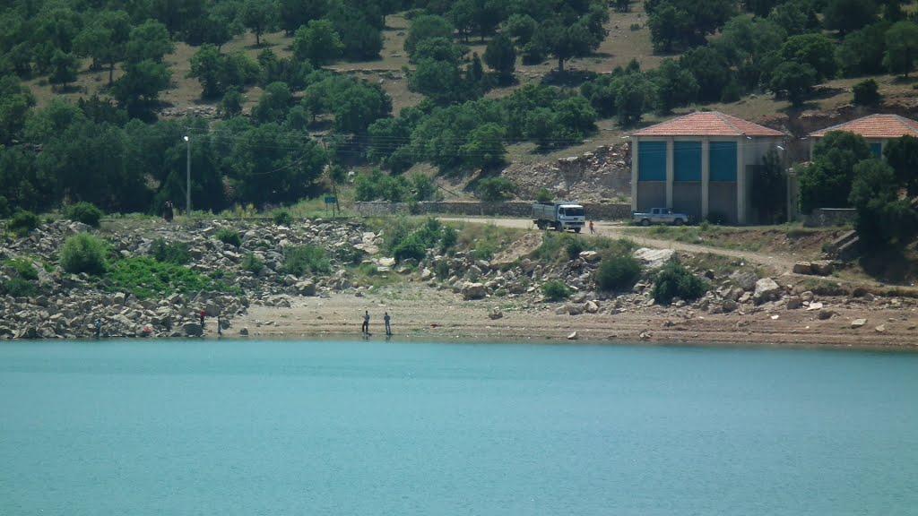 Virajı alamayan sürücü Apa Barajı'na uçtu
