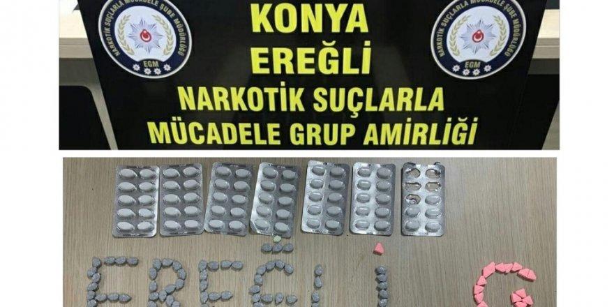 Ereğli'de uyuşturucu hap ele geçirildi