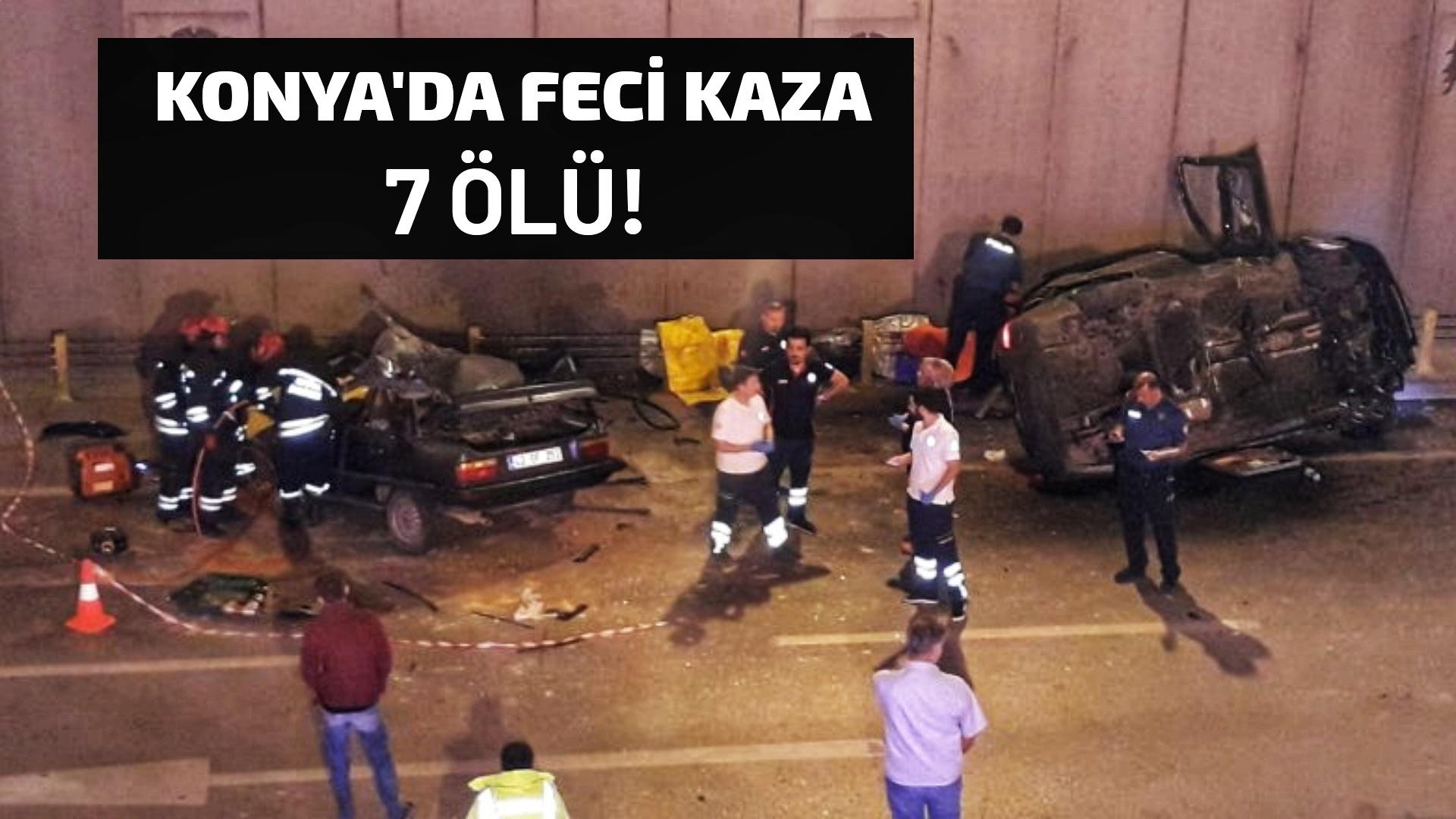 Konya'da feci kaza: 7 ölü