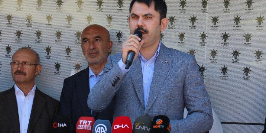 """Bakan Kurum: """"Konya ile liderimiz Recep Tayyip Erdoğan arasına kimse giremeyecektir"""""""