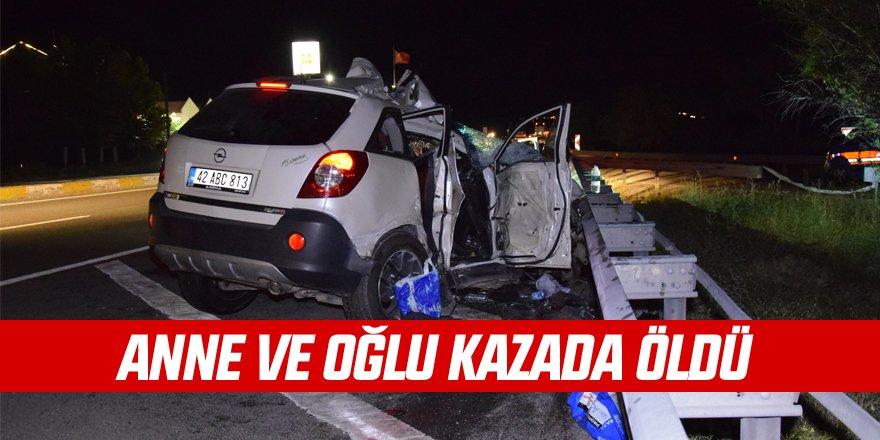 Kulu'da kaza: 2 ölü, 1 yaralı
