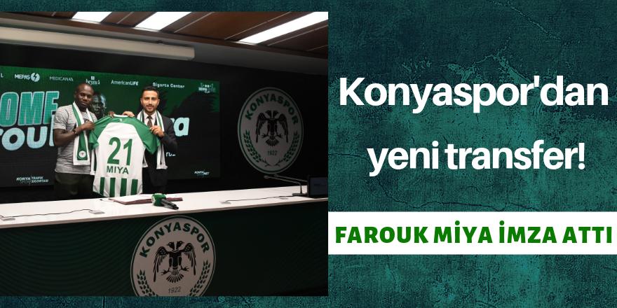 Farouk Miya imzayı attı!
