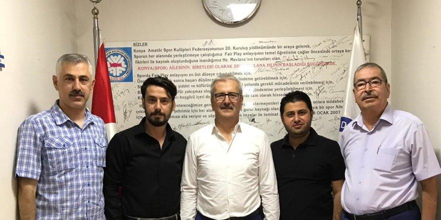 Meram Belediyespor'dan  ASKF'ye ziyaret