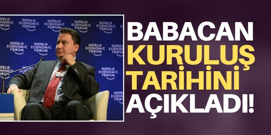 Babacan'dan flaş açıklama! Yeni parti tarihini duyurdu