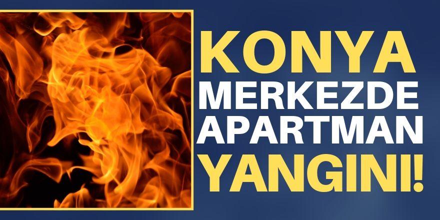 Konya'da apartman yangını!