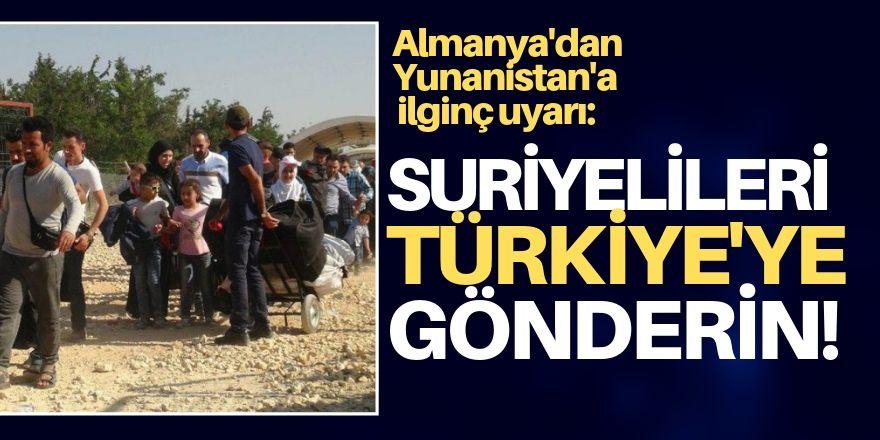 Yunanistan'a mülteci uyarısı: Acilen Türkiye'ye iade edin!