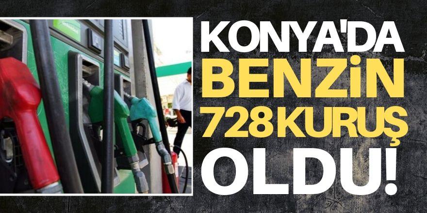 Konya'da benzin  7,28 TL oldu!