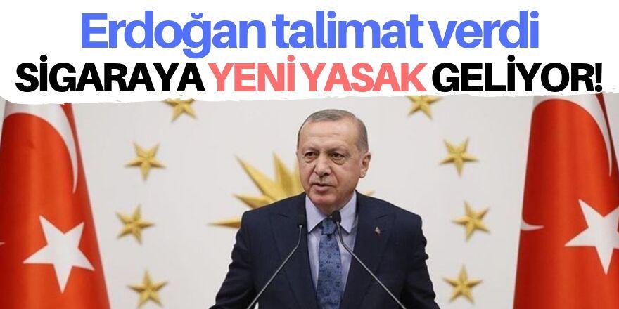 Erdoğan talimat verdi: Sigaraya yeni yasak geliyor