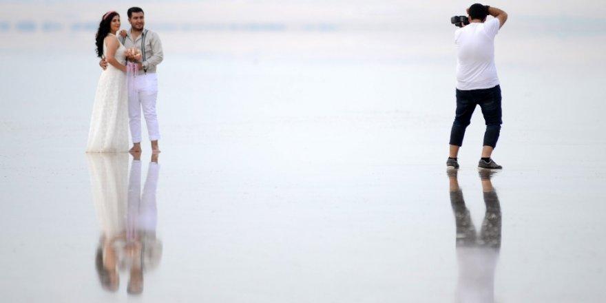 Tuz Gölü, gelin ve damatların yeni gözdesi