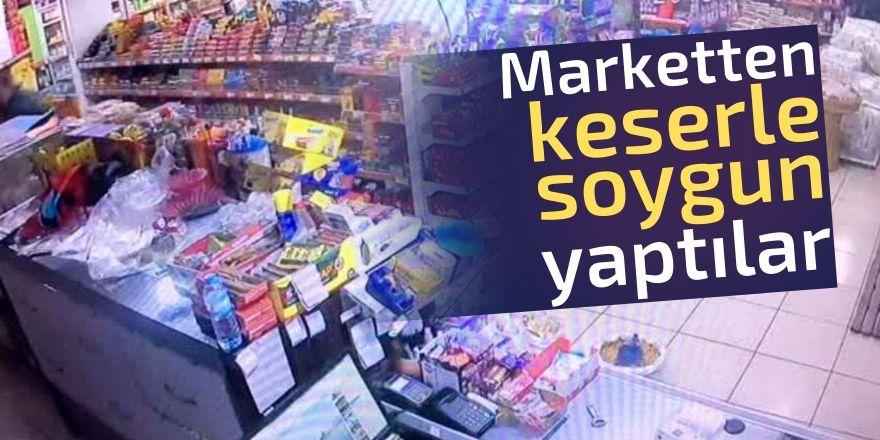 Konya'da marketten keserli soygun