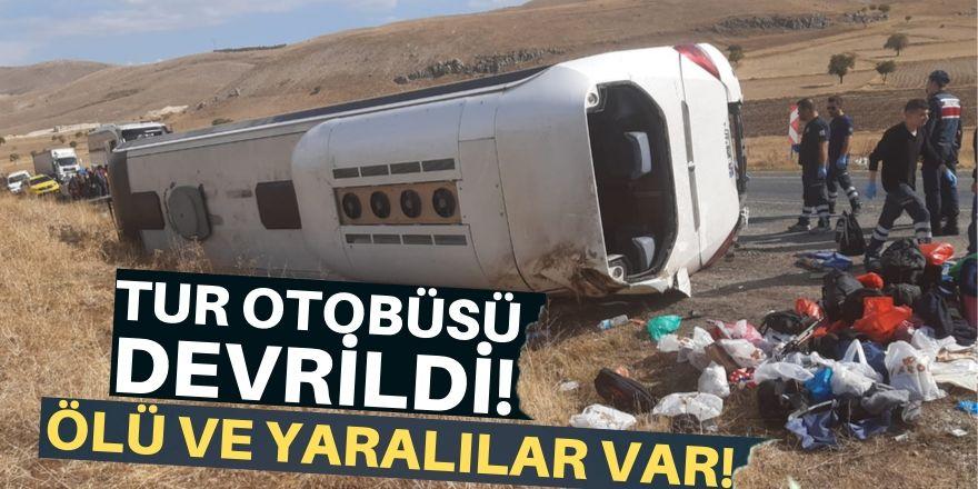 Tur otobüsü devrildi!