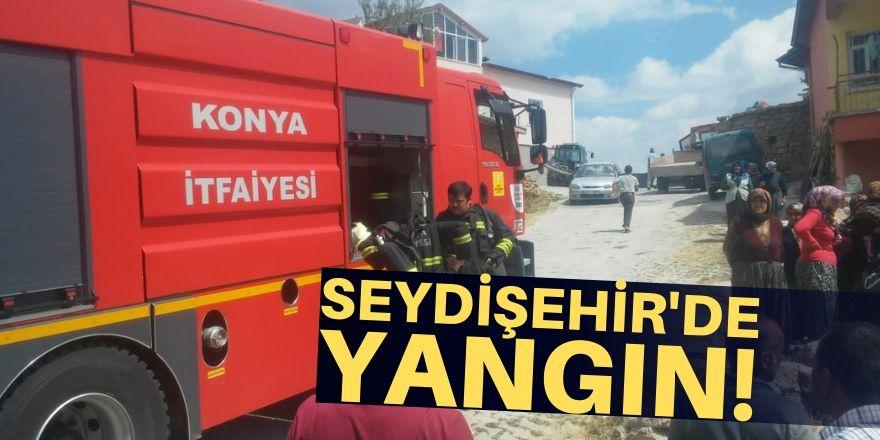 Seydişehir'de ev yandı!