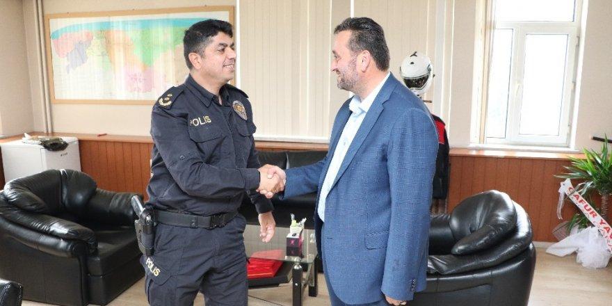 Başkan Yanmaz'dan Yeni İlçe Emniyet Müdürüne ziyaret