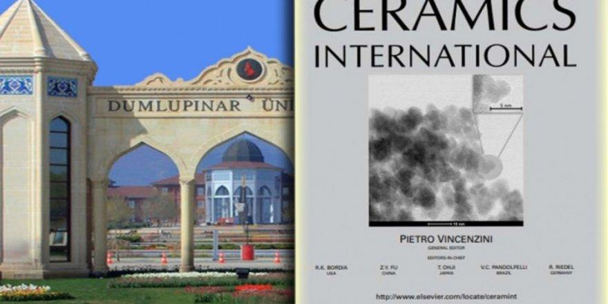 DPÜ'de yapılan tez çalışması uluslararası dergi kapağında