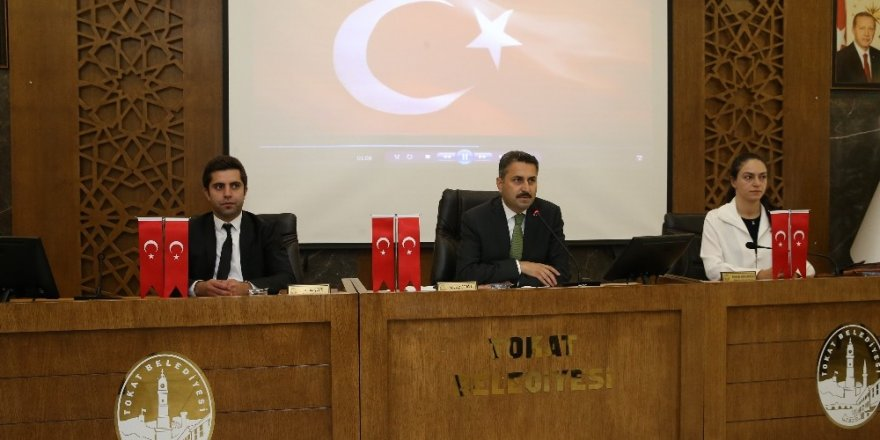 Tokat Belediye meclisinden barış pınarı harekatına tam destek
