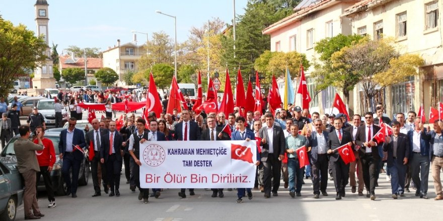 Yunak'ta Barış Pınarı Herakatı'na destek