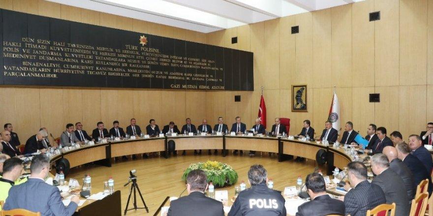 Emniyet Genel Müdürlüğünde koordinasyon toplantısı