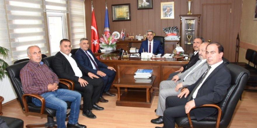 MTSO Başkanı Sadıkoğlu, Türk İş Malatya Temsilcisi  Hikmet Kazgan'a ziyaret