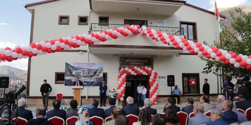 Gümüşhane'de Yalçın Kurt Kültür evi ve Yeni Mahalle Muhtar Evi'nin açılışı gerçekleştirildi