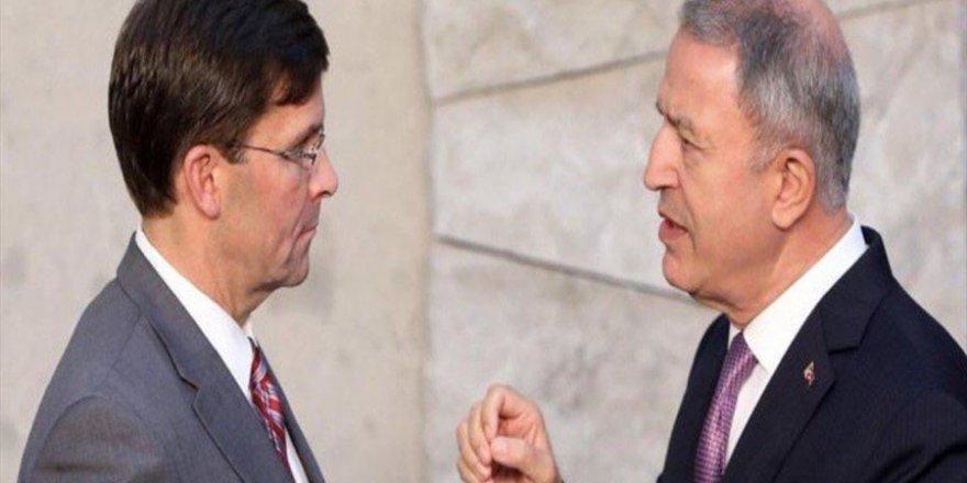 Milli Savunma Bakanı Hulusi Akar, ABD Savunma Bakanı Esper ile telefonda görüştü