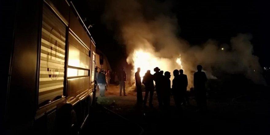Van'da 5 katlı binada yangın çıktı