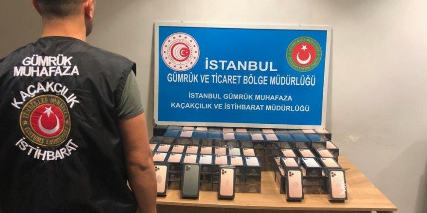 Sabiha Gökçen Havalimanı'nda 179 adet cep telefonu ele geçirildi