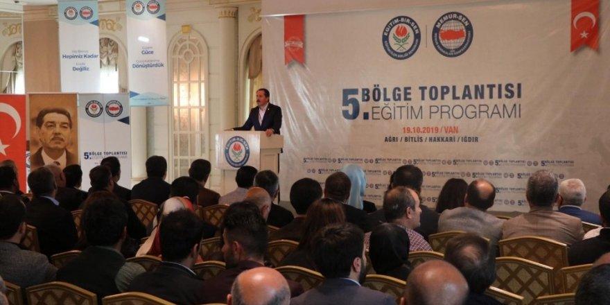 Eğitim-Bir-Sen ve Memur-Sen Genel Başkanı Ali Yalçın Van'da