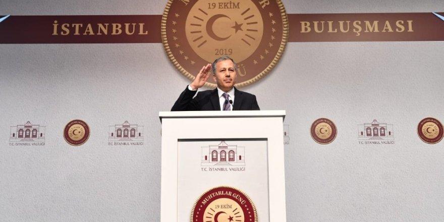 İstanbul Valisi Ali Yerlikaya muhtarlarla buluştu