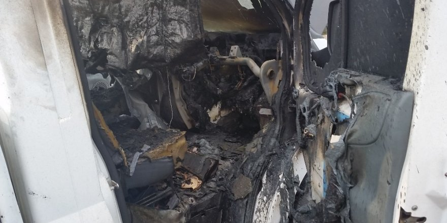 Kulu'da kamyonetin kundaklandığı iddiası