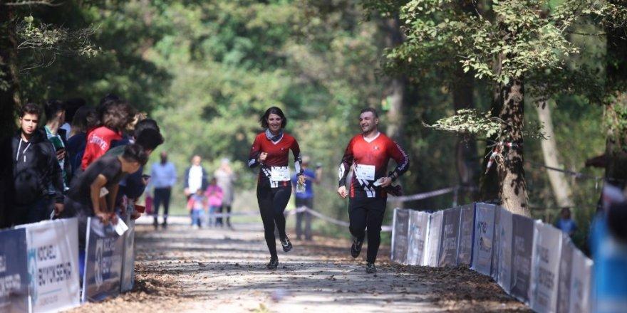 1. Kademe Oryantiring Yarışı'nın Ormanya etabı nefes kesti